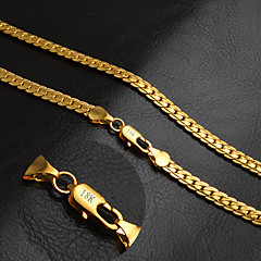 Herre Dame Kjedehalskjeder Sirkelformet Gylden 18K gull Mote Klassisk Personalisert Smykker Til Bryllup Fest Daglig Avslappet Sport