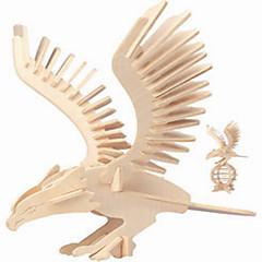 Puzzles Holzpuzzle Bausteine DIY Spielzeug Eagle 1 Holz Elfenbein