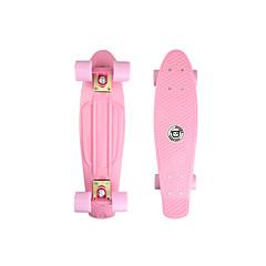 22 Zoll Cruisers Skateboard Standard-Skateboards PP (Polypropylen) Leicht Rosa