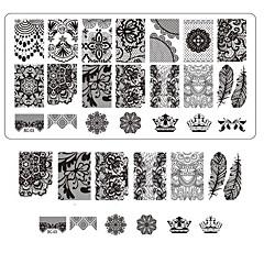 čipka tisak nail art otiskivanje dekor DIY manikuru žigosanje ploče za nokte predlošci salon alata bc03