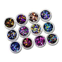 1set 12bottles Nail Art Decoration tekojalokivi Pearls meikki Kosmeettiset Nail Art Design