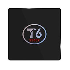 T6 Amlogic S905X Android TV Box,RAM 2GB ROM 16GB Dual Core WiFi 802.11n No