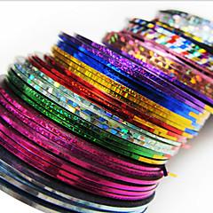 Decoração Art 24PCS Mixs Cor Striping Linha Tape unhas Stripe Tape Nail Sticker