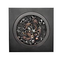 """Afløb / Olieret bronze / Andet /10X10X7.5cm(3.9X3.9X3"""") /Messing /Antik /10cm(3.9"""") 10cm(3.9"""") 0.5kg"""
