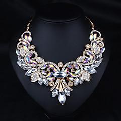 בגדי ריקוד נשים שרשראות הצהרה תכשיטים אבן נוצצת סגסוגת עיצוב בייסיק קשת חום תכשיטים ל חתונה Party ארוסים יומי קזו'אל 1pc