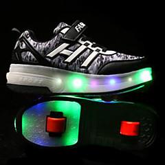 Kinder Skate Schuhe Blau/Schwarz/Purpur