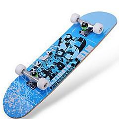 31 inç Komple Kaykay Standart Skateboards Akçaağaç 608ZZ-Kırmzı Yeşil Mavi Desen