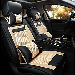 O assento do assento do novo carro tampa do assento de couro quatro estações de gelo geral em torno de cinco assentos para o encosto de