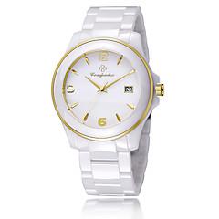 Homens Mulheres Relógio de Moda Quartzo Cerâmica Banda Casual Elegantes Branco