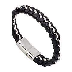 Pánské Dámské Kožené náramky Módní minimalistický styl Kožené Slitina Round Shape Šperky Pro Ležérní Jdeme ven