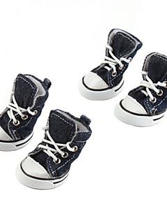 Köpek Ayakkabılar ve Botlar Kovboy Moda Tek Renk Kotlar Mavi Pembe