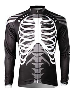 Maillot Cyclisme Vélo Homme Manches longues noir crâne des hommes spakct