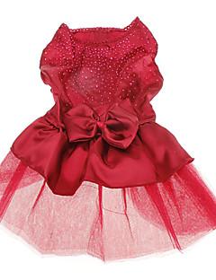 Köpekler Elbiseler Kırmızı Mavi Köpek Giyimi Yaz İlkbahar/Kış Solid Payetler Düğün Tatil Moda