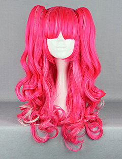 Lolita Wigs Punk Lolita Červená Lolita Lolita Paruky 65 CM Cosplay Paruky Jednobarevné Paruka Pro