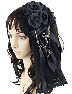 Sieraden Gothic Hoofddeksels Prinses Lolita-accessoires Helm Strik Voor Kant Satijn Kunst Edelstenen