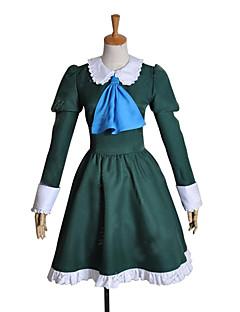 に触発さ コスプレ Mary ビデオ ゲーム コスプレ衣装 コスプレスーツ / ドレス パッチワーク グリーン ロング ドレス