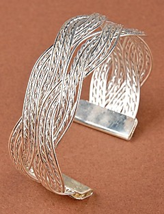 Női Karperecek Bilincs karkötők Egyedi Divat jelmez ékszerek Redőzött Menyasszonyi Ötvözet Flower Shape Ékszerek Kompatibilitás Esküvő