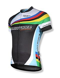 SPAKCT Maillot de Cyclisme Homme Manches Courtes Vélo Maillot Hauts/Tops Séchage rapide Zip frontal Vestimentaire Respirable zip YKK