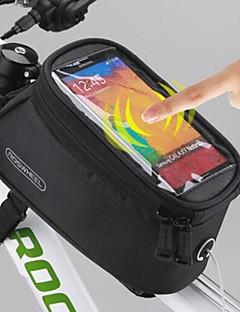 ROSWHEEL תיק אופניים 1.5Lטלפון נייד תיק תיקים למסגרת האופניים תיקי אוכף לאופניים עמיד למים רוכסן עמיד למים מסך מגע תיק אופנייםפוליאסטר פי