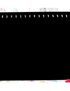 Smykkedisplay Flanellette Papir Geometrisk Form Svart