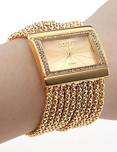 לנשים שעוני אופנה שעון צמיד Japanese קווארץ חיקוי יהלום אבן נוצצת נחושת להקה מדבקות עם נצנצים אלגנטי יוקרתי זהב כסף מוזהב