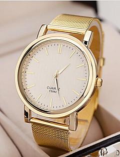 לנשים שעוני שמלה שעון יד קווארץ סגסוגת להקה זהב