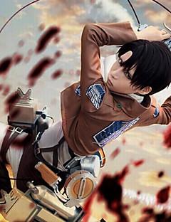 Inspirirana Napad na Titanu Skupljanje Anime Cosplay nošnje Cosplay Suits Jednobojni Dugih rukavaKravata Kaput Shirt Hlače Shawl Struk