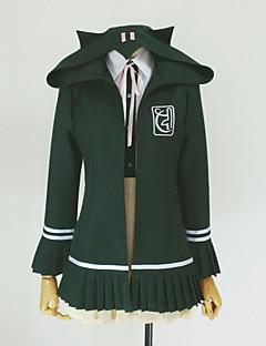 Inspiré par Dangan Ronpa Chiaki Nanami Vidéo Jeu Costumes de Cosplay Cosplay à Capuche Couleur Pleine Vert Manche LonguesManteau Chemise