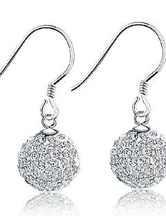 Damen Tropfen-Ohrringe Kristall Simple Style Elegant Brautkleidung Sterling Silber Krystall Schmuck Schmuck Für Hochzeit Party Geburtstag