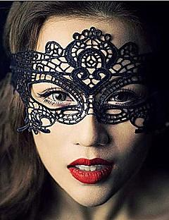 Maske Cosplay Fest/Feiertage Halloween Kostüme Schwarz Spitze / einfarbig Maske Halloween Unisex Spitzen