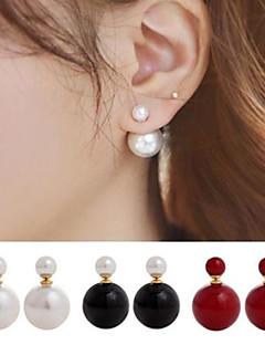 Damen Ohrstecker Gestlyte Ohrringe Vorne Hinten Modeschmuck Beidseitig Simple Style Perle Künstliche Perle Aleación Kugel Schmuck Für