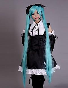 Inspiré par Vocaloid Hatsune Miku Vidéo Jeu Costumes de Cosplay Costumes Cosplay Robes Mosaïque Sans Manches Robe Casque Manche