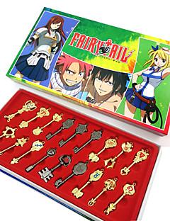 Mais Acessórios Inspirado por Fairy Tail Fantasias Anime Acessórios de Cosplay Chaveiro Dourado Liga Feminino