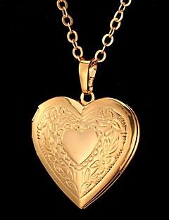 Dames Hangertjes ketting Hartvorm Bloemvorm Liefde Modieus Gesneden Kostuum juwelen Sieraden Voor Speciale gelegenheden  Verjaardag