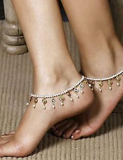 נשים תכשיטי גוף תכשיט לקרסול שרשרת גוף / בטן שרשרת עיצוב מיוחד אופנתי תכשיטים פנינה תכשיטים תכשיטים עבור יומי קזו'אל
