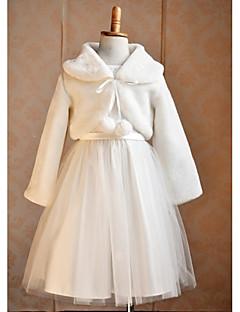 Παιδικές Εσάρπες Μπολερό Μακρυμάνικο Ψεύτικη Γούνα Γάμου Πάρτι/Βράδυ Causal Αναδιπλούμενο Κολάρο