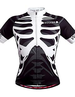 WOSAWE Maillot de Cyclisme Homme Unisexe Manches Courtes Vélo Maillot Hauts/Tops Séchage rapide Zip frontal Respirable Poche arrière