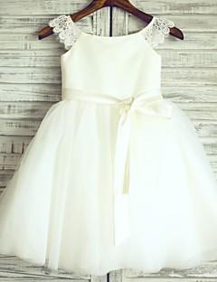πριγκίπισσα κορίτσι φόρεμα κορίτσι μήκος λουλούδι - τούλι κοντό μανίκια λαιμό σέσουλα από thstylee