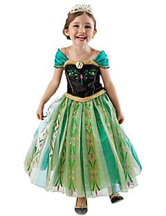Cosplay Kostýmy Kostým na Večírek Princeznovské Pohádkové Festival/Svátek Halloweenské kostýmy Zelená Patchwork ŠatyHalloween Vánoce Den