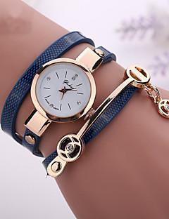 לנשים שעוני אופנה שעון צמיד שעונים יום יומיים קווארץ שעונים יום יומיים חיקוי יהלום PU להקה בוהמי שחור לבן כחול אדוםחום אדום ירוק כחול