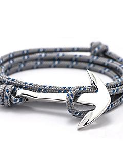 Homme Femme Charmes pour Bracelets Bracelets d'amitié Bracelets Amitié Multicouches Personnalisé Inspiration Alliage Ancre Bijoux Pour