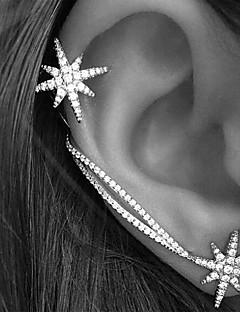 Damen Ohr-Stulpen Ohrring Modisch individualisiert Europäisch Modeschmuck Strass Aleación Sternenform Schmuck Für Hochzeit Party Alltag