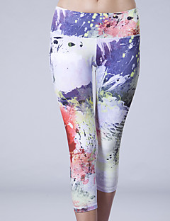 Queen Yoga Dámské Koşu Taytları Prodyšné Komprese Ter Emen 3/4 Tights Kalhoty Legíny Spodní část oděvu pro Jóga Fitness elastan Terylen S