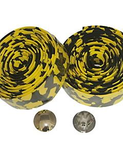 Road Bike Fixed Gear Single Speed Ohjaustanko Tape Bar Wrap Leopard (Keltainen Musta, 2kpl)