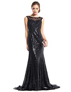 Mořská panna Dlouhá vlečka Flitry Formální večer Šaty s Flitry podle TS Couture®