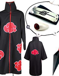 Inspirirana Naruto Itachi Uchiha Anime Cosplay nošnje Cosplay Suits More Accessories Print Ogrlice Plašt More Accessories Oružje prsten Za