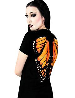 bruxa / vampiro estilo terylene impressão preto de manga curta clássico do punk t-shirt