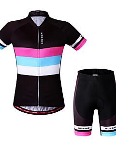 WOSAWE Sykkeljersey med shorts Dame Kort Erme Sykkel Genser Fôrede shorts Jersey Shorts Topper KlessettFort Tørring Anatomisk design