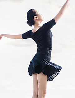 Balet Úbory Dámské Výkon elastan / Polyester Nařasený / Plisované 2 kusy Krátké rukávy Sukně / horní a dolní část)