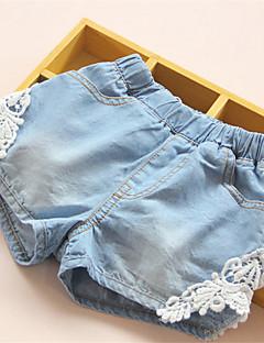 Mädchen Shorts-Lässig/Alltäglich Patchwork Baumwolle Sommer Blau
